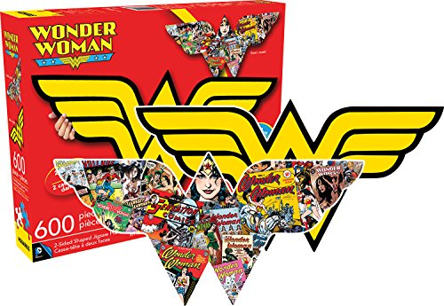 Aquarius Wonder Woman Logo 600 Piece 2 Sided Diecut Jigsaw Puzzle