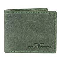 Urban Forest Ronn Green Leather Wallet for Men