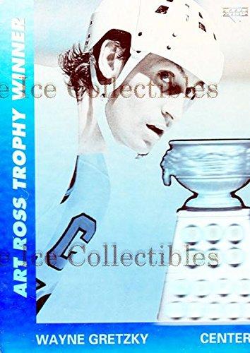 (CI) Wayne Gretzky, Art Ross Trophy Hockey Card 1991-92 Upper Deck Czech World Juniors Wayne Gretzky Holograms 2 Wayne Gretzky, Art Ross Trophy ()