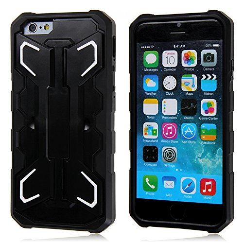 iPhone 6 Case, Eagle Series by Guardiant - [Kickstand Feature] [White] - Perfect For Netflix, FaceTime, Movies, TV, Video - 4.7 Inch Rugged Dual Layer Armored Case for your Apple Phone - Popular For Men & Guys - Slim Custom Fit - Latest Stylish Design - Protect Your Investment