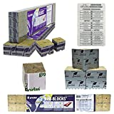 Grodan 2'' x 2'' x 1.5'' Mini Blocks Grow Media Rockwool Stonewool Cube Propagation W/ Twin Canaries Chart - Quantity 24
