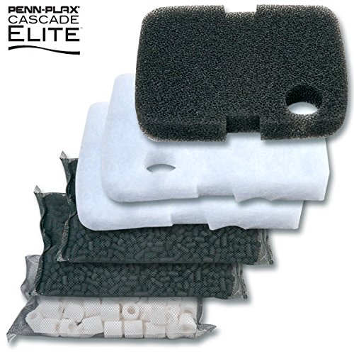Penn Plax Cascade Elite Filter Recharge Kits: Bio Floss, Bio Foam, Pro Carb and Bio Rings (Cascade 700/1000 - 60 Day - Canister Floss Bio Filter