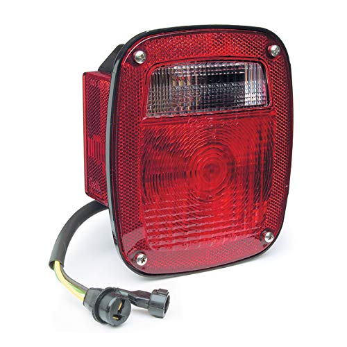 Grote STT LAMP, RED, 3-Stud CHEV/Ford/Jeep W/Side MKR & Molded Pigtail, LH (52812)