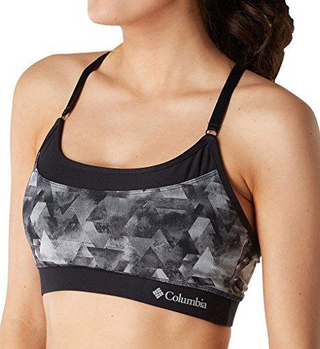 Columbia Women's Power Mesh Overlay Cami Bra with Removeable Cups Bra, geo Nebula/Black, M