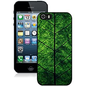 Beautiful Custom Designed Cover Case For iPhone 5s With Green Leaf Perspective Phone Case WANGJING JINDA