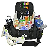 Lightning X Deluxe Stocked Large EMT First Aid Trauma Bag Fill Kit w/Emergency Medical Supplies (Black)
