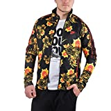 NIKE Men's Sportswear Floral N98 Tribute Track Jacket Black/Yellow 909242-719 (Size S)