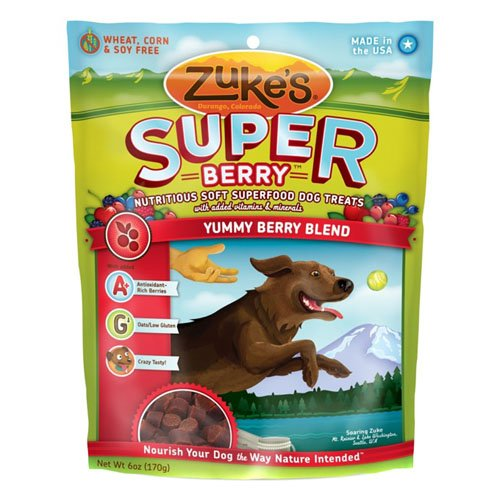 Zuke's Supers All Natural Nutritious Soft Superfood Dog Treat, Yummy Berry Blend, 6-Ounce, My Pet Supplies