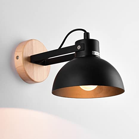 Jinyuze Warm Metal Dome Wall Sconce Light Adjustable Lamp With Round