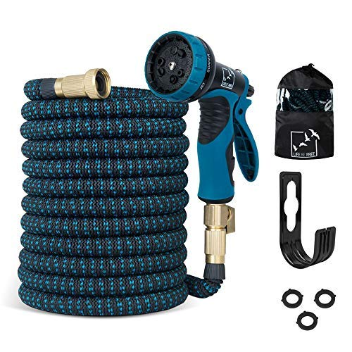 expandable-garden-hose-100-ft-all-new-2018-upgraded-extra-strength-no-kink-lightweight-durable-flexible-water-hose-9-function-spray-hose-nozzle-34-solid-brass-connectors