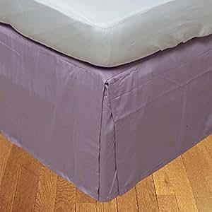 Dreamz cama Super suave algodón egipcio de 350hilos elegante acabado 1pieza Caja plisada falda de cama (Drop Length: 30pulgadas) Euro Super King, lavanda/Lila sólido