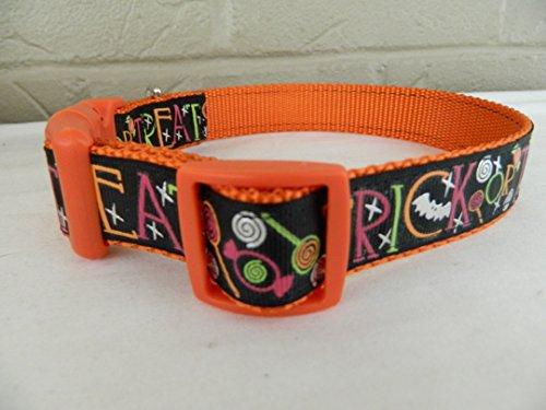 Schmoopsie Couture Halloween Trick or Treat Dog Collar (Medium -