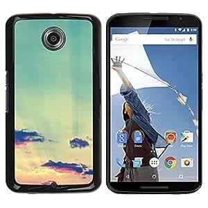 Caucho caso de Shell duro de la cubierta de accesorios de protección BY RAYDREAMMM - Motorola NEXUS 6 / X / Moto X Pro - Clouds Sunset Sun Summer