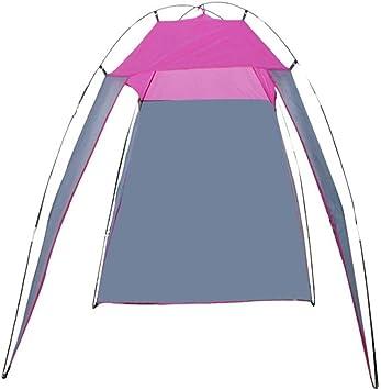 Zhuo Qun Shang Mao toldo para Acampar al Aire Libre toldo Plegable Playa pérgola Protector Solar Lluvia Ultra Ligero Camping portátil Simple Carpa Rosa 196 * 180 * 160 cm: Amazon.es: Deportes y aire libre