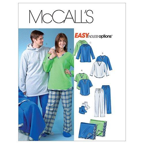McCall's Patterns M4675 Misses'/Men's/Teen Boys' Tops, Pants, Socks and Blanket, Size Y (XSM-SML-MED)
