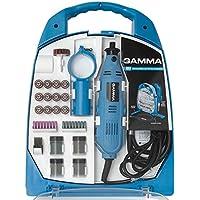 Micro Retífica com Kit de Acessórios 252 Peças 220V, Gamma Ferramentas G19502/BR2, Azul