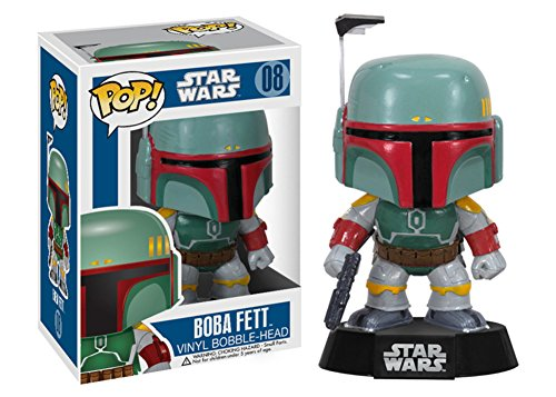Star Wars - Boba Fett POP Figure Toy 3 x - Wars Star Fett Head