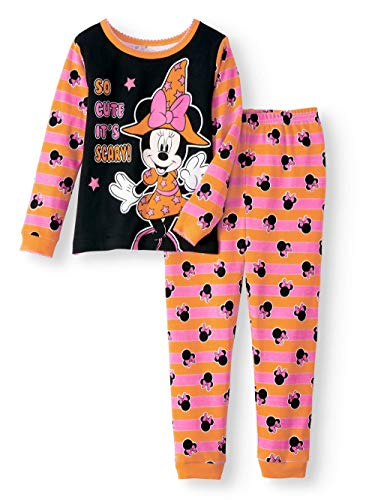 Disney Minnie Mouse Little Girls Toddler Halloween Pajama Set (4T) -