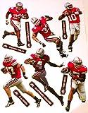 FATHEAD Ohio State Buckeyes Team Set of Buckeye Legends 6 Players Official NCAA Vinyl Wall Graphics 17'' INCH SHEET