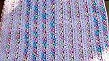 Crochet Striped Baby Blanket, Pink
