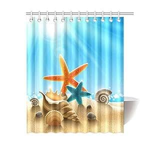 Beach Theme Starfish Seashell Waterproof
