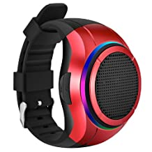Frewico® X10 Wireless Wearable Bluetooth Speaker Watch, Portable Music Wrist Band Sports Running Watches, MP3 Player + Built-in Microphone for Hands free Calls + Self-timer, Include 1GB Micro SD Card