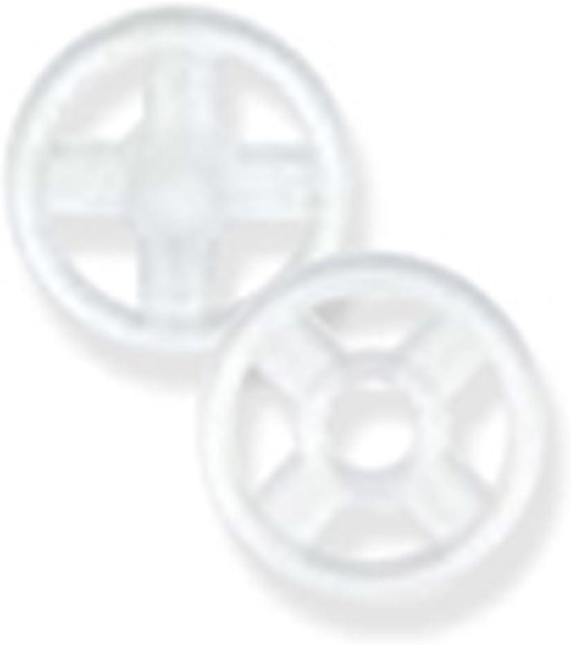 Botones automáticos de plástico, transparentes y negros, varios tamaños, negro