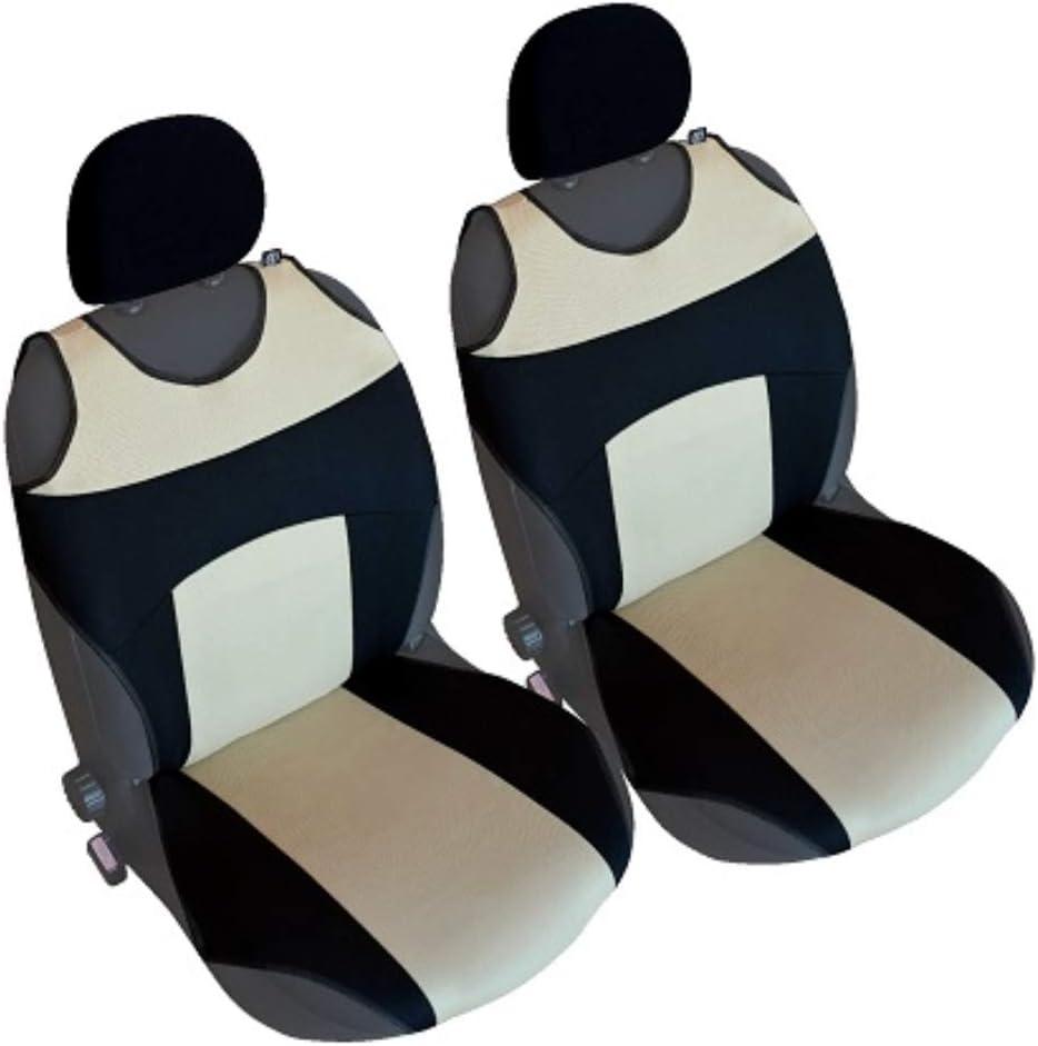 Akhan CSC 303 Pair Seat Cover Seat Cushion Black//Beige