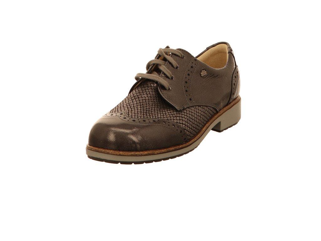 Finn Comfort - Zapatos de cordones de Piel para mujer gris LEAD/CARBON 8 LEAD/CARBON