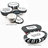 G.U.S. Tasty Trimmings Fabric Casserole Bowl Covers - Polka Dot, Set of 2. Food Safe, Vegetable Dyes, Elastic Edging, Washable And Reusable