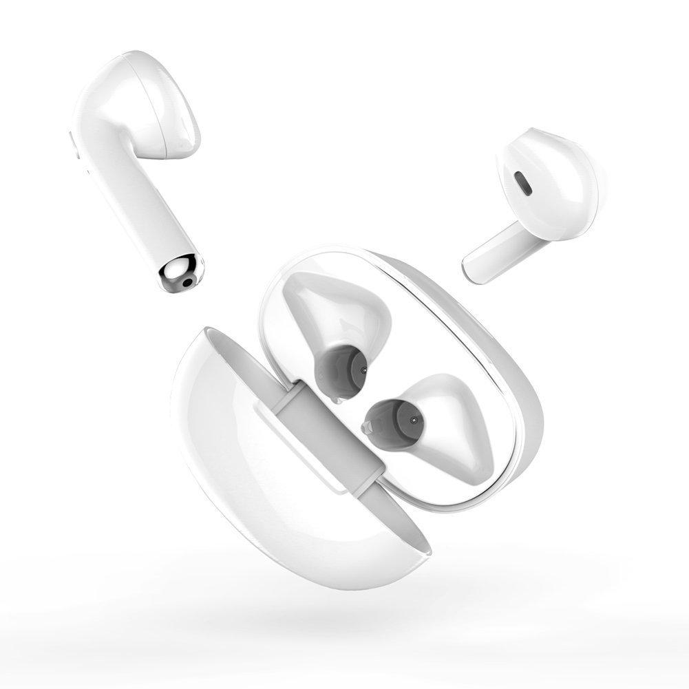 Aczaec ワイヤレスイヤホン トゥルーワイヤレスヘッドホン Bluetoothイヤホン 36時間再生 重低音ステレオサウンド 両耳対応 CVCノイズキャンセリング対応 防水充電ケース付き 06 B07RHJ92RP