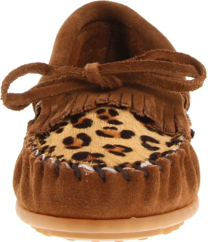 Enfant Kilty MINNETONKA Marron velours Marron leopard dtSPgq
