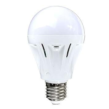 Tookie Bombilla LED E27 Control de Sonido Bombilla Globo Blanco Cálido SMD ahorro de energía foco: Amazon.es: Deportes y aire libre
