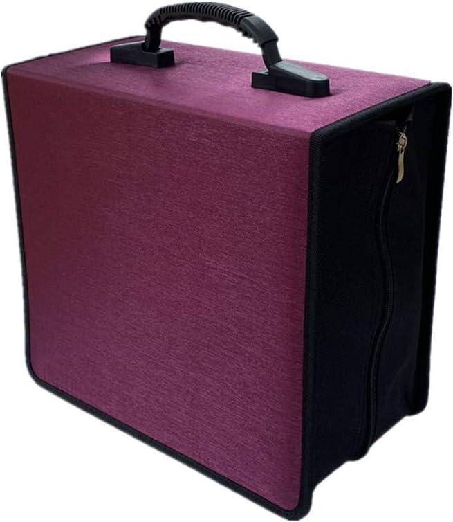 Penlonda CD/DVD Case Holder Organizer Wallet Sleeves Booklet Binder,Storage 400 Capacity Disc(Rose)