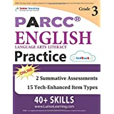 PARCC Test Prep: Grade 3 English Language Arts Literacy (ELA) Practice Workbook and Full-length Online Assessments: PARCC Study Guide