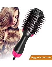 Riverback Salon One Step Hair Dryer and Volumiser AU Plug Multifunctional Oval Blower Hot Air Paddle Styling Brush Negative Ion Generator Hair Straightener Curler Comb for All Hair Types Fast Delivery from AU Warehouse