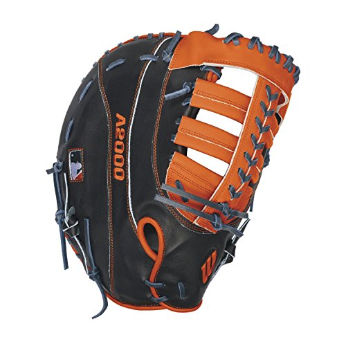 Miguel Cabrera Games (Wilson A2000 MC24 Miguel Cabrera Game Model 1st Base Baseball Glove, Navy/Orange, Right Hand Thrower)