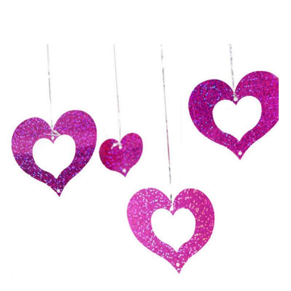 Fdit Colgante Forma de corazón Colgante balón Accesorios para la ...