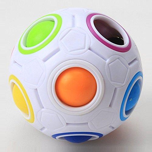 Regenboog puzzel bal,Rainbow Magic Ball Plastic Cube Twist voor kinderen educatief speelgoed tieners volwassen stress…
