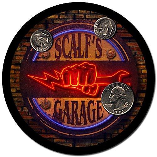 Scalf Garage Drink Coasters - 4 Pack