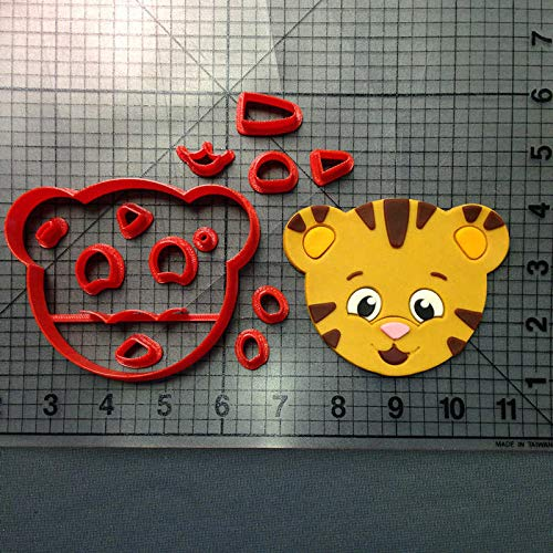 1 Set Custom Made 3D Printed Cartoon Daniel Tiger Cookie Cutter Set Fondant Cupcake Top Cookie Cutter Set For Cake Decorating Tools (Custom Printed Cookies)