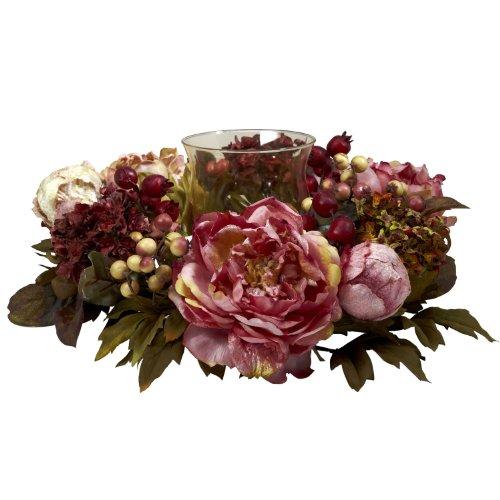 - Nearly Natural 4931 Peony Hydrangea Candelabrum, Autumn