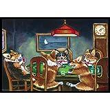 "Caroline's Treasures 7416MAT Corgi Playing Poker Indoor or Outdoor Mat, 18""H x 27""W, Multicolor"