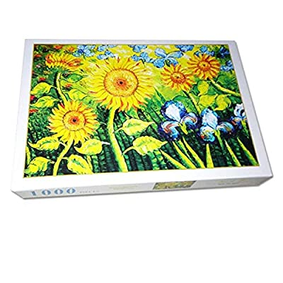 1000 Pieces Jigsaw Puzzles Colorful Flowers Landscape Paper for Adult Entertainment Wooden Puzzles Toys: Toys & Games