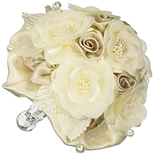 earl Faux Rose Bouquet (Creamy Faux Pearl)