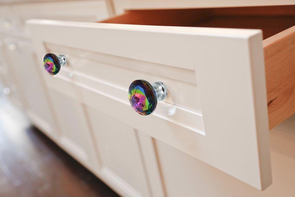 10PCS MULTI-COLOR GLASS CRYSTAL CABINET KNOBS PULLS HANDLE FOR DRAWER DRESSER