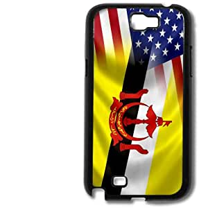 Case for Samsung Galaxy IV/4 with Flag of Brunei Darussalam and USA