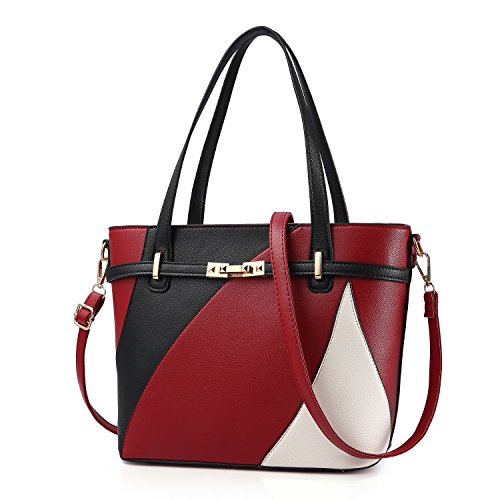 Top Handle Bags for Women Leather Tote Purses Handbags Satchel Crossbody Shoulder Bag form Nevenka (Red) by Nevenka