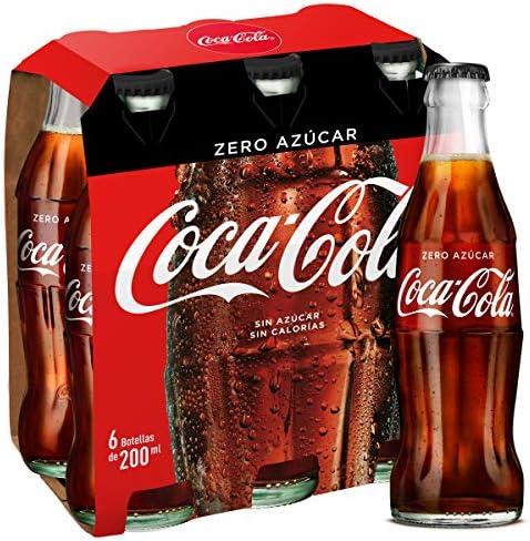 Coca-Cola - Zero, Botella de cristal, 4 x 200 ml: Amazon.es: Alimentación y bebidas