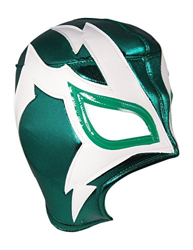 Mask Maniac Adult Lucha Libre Wrestling Mask (pro-fit) Costume Wear - Green ()